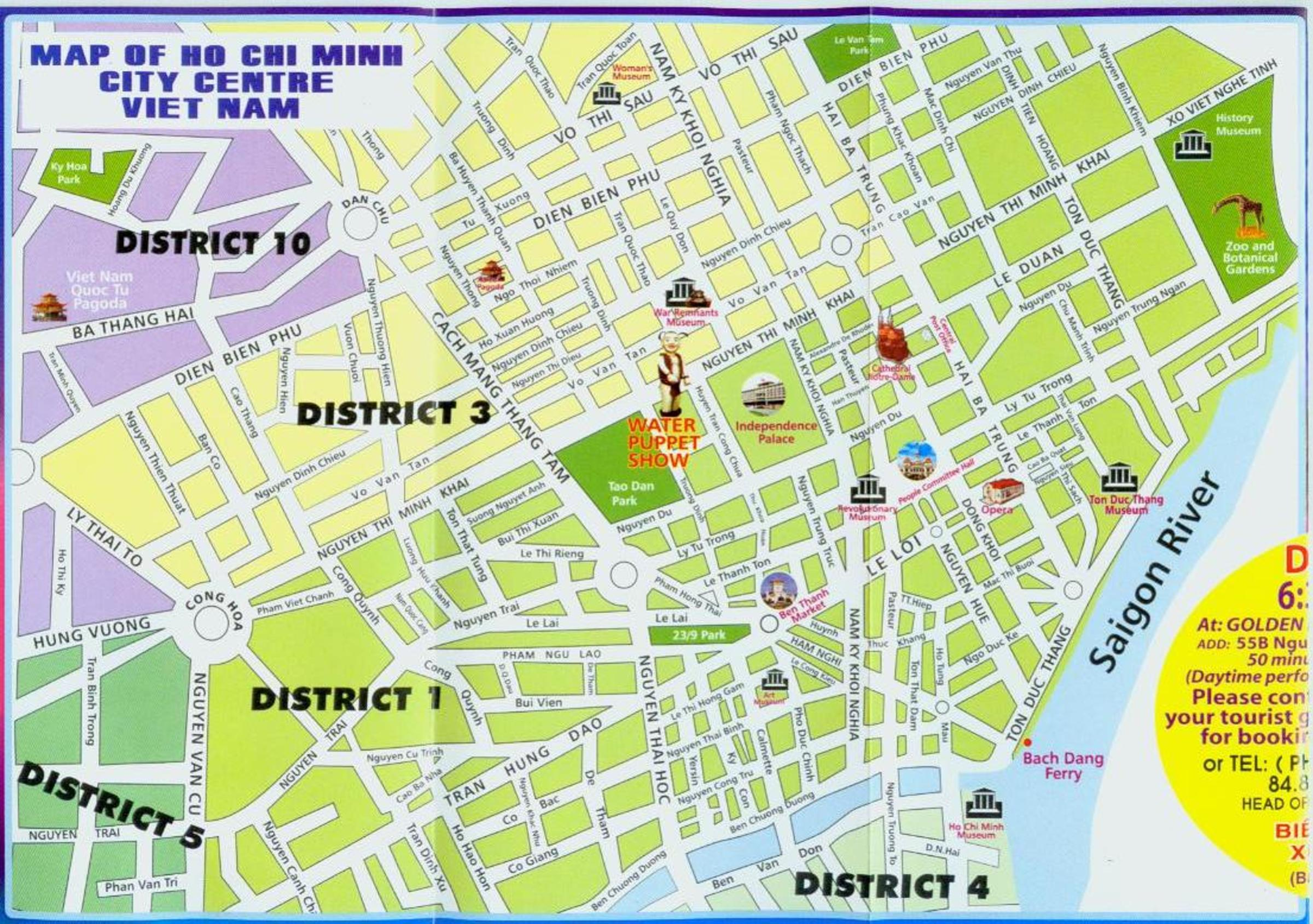 Map of Ho Chi Minh City Centre Viet Nam Virtual Saigon