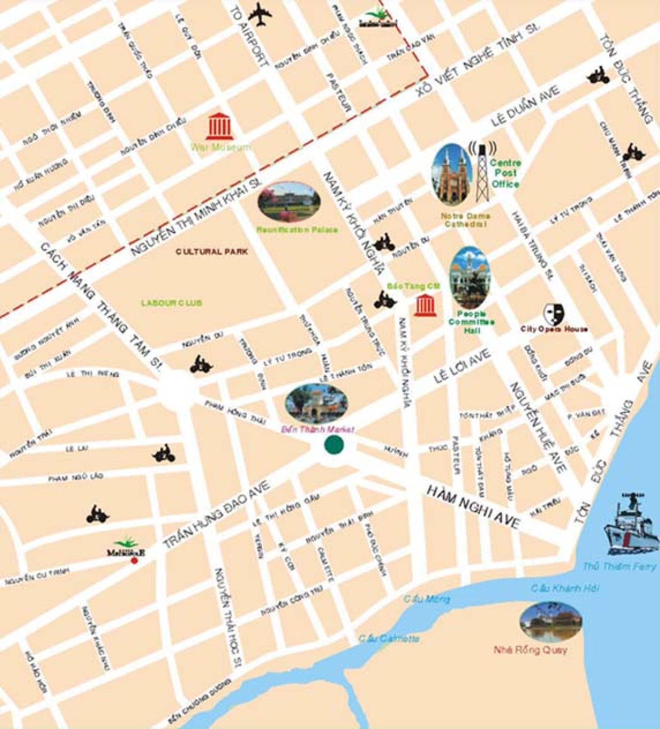 Ho Chi Minh City Tourist map – Tourist Map Of Ho Chi Minh City